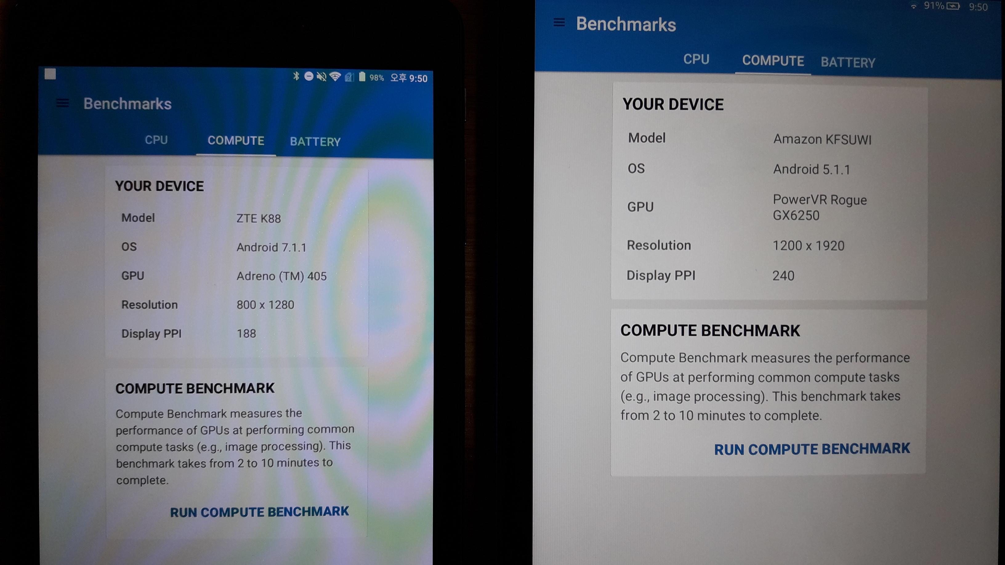 요즘? 가성비 태블릿, ZTE trek2 vs Amazon fire hd 10 - 사용기